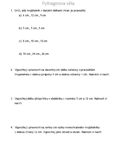 Zs Dobrichovice Matematika Pracovni Listy Ke Stazeni Pro 5 7 8